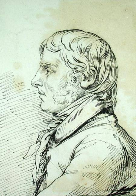 Self Portrait (pen and brown ink over traces of black chalk on paper) by Friedrich, Caspar David